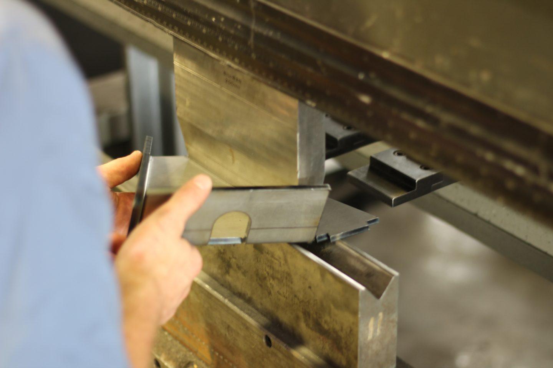 press brake in use