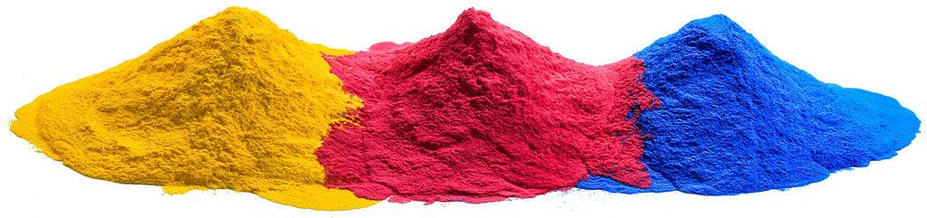 powder coating material sample colors